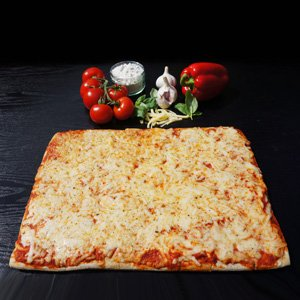 A small Eat Balanced multi-serve pizza ideal for parties and events.